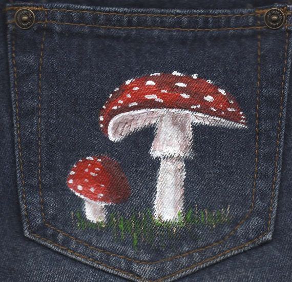 New Upcycled Hand Painted Denim Hotpants by DecadentAndFabulous, £23.00
