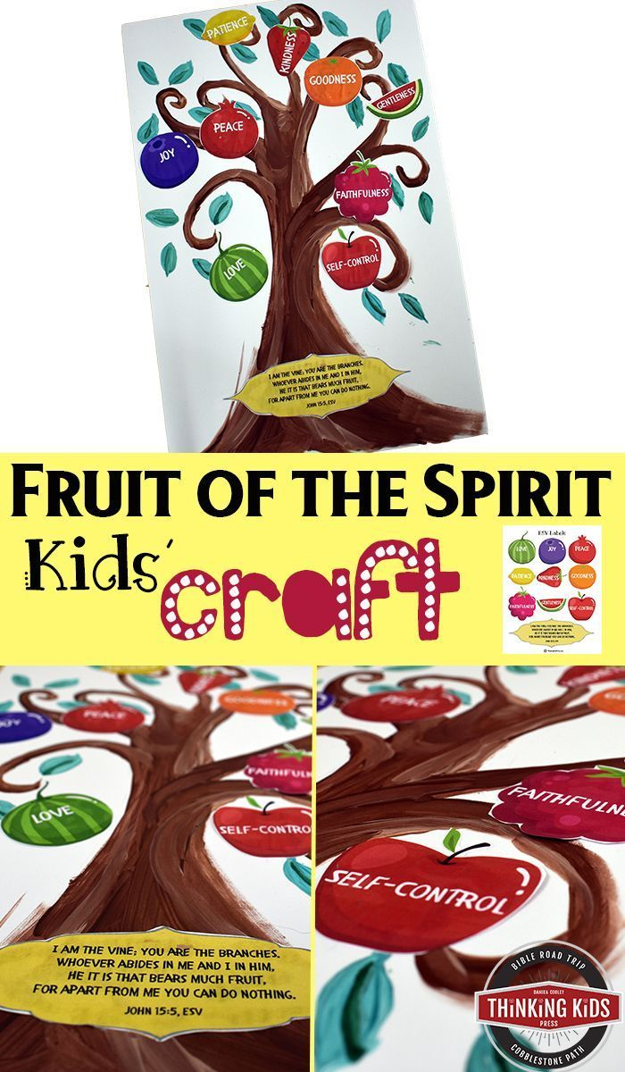 The Fruit Of The Spirit Kids Craft Fruit Of The Spirit Bible Crafts For Kids Bible For Kids