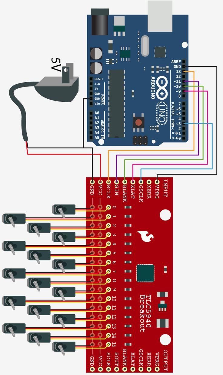 TLC5940  contrôler plusieurs servos moteur avec un Arduino