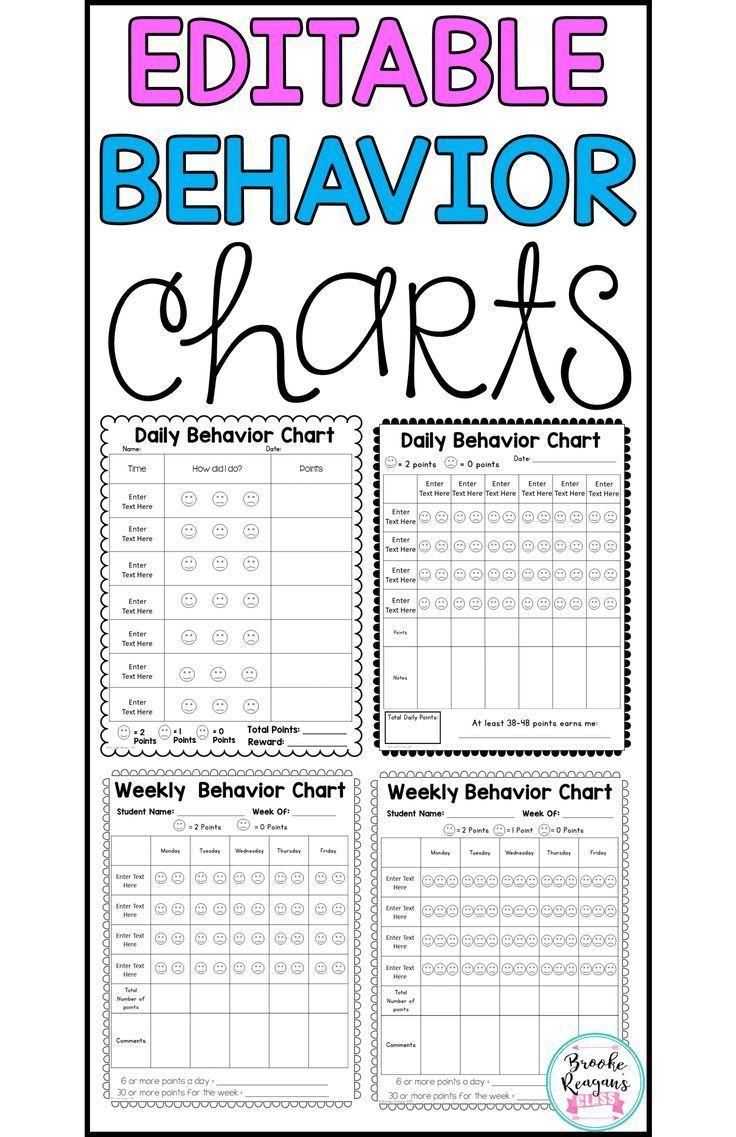 behavior charts for behavior management editable behavior and rh pinterest com