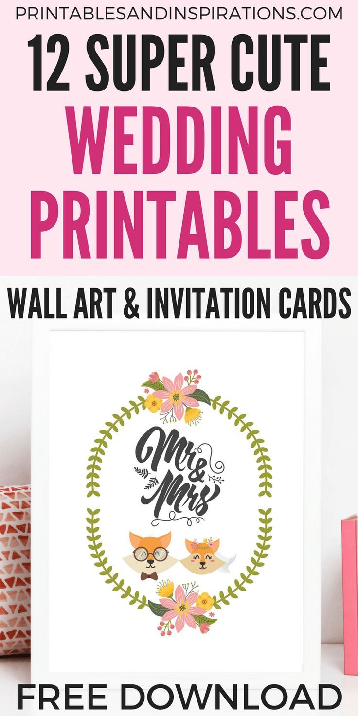 Diy Simple Wedding Invitation Cards And Decorations Free Printable Cute Funny Wall Art With Animal Couples: Funny Wedding Card Printable At Websimilar.org