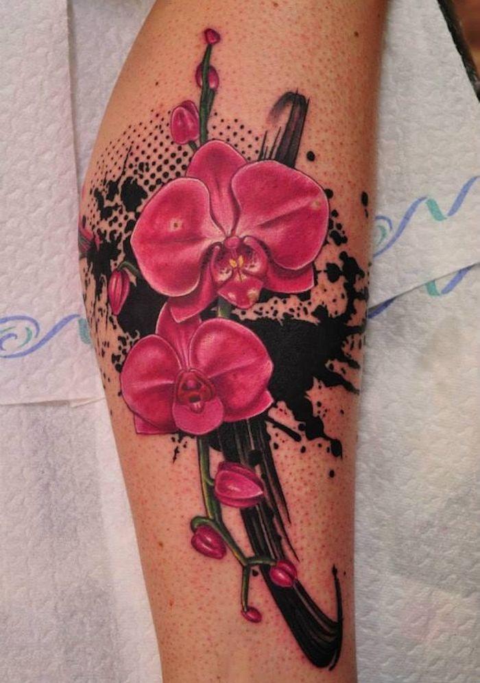 29+ Tatouage fleur d orchidee ideas