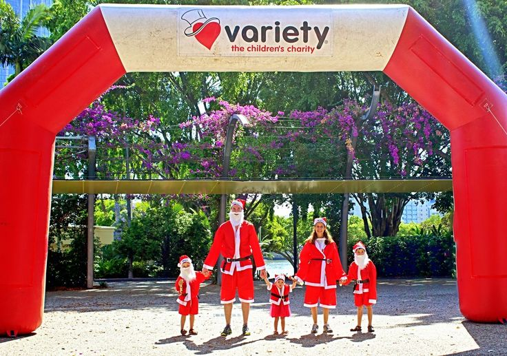 Variety Santa Fun Run, South Bank Where is it: Events in Brisbane, Bundaberg and Toowoomba as well as NSW, Victoria and NT!    What's it all about: A fun run designed to cheer people up (seeing hundreds of Santas in a fun run is pretty funny!) and raise funds for Variety!         How can