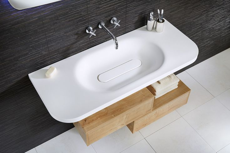 Lana three hole wall-mounted basin mixer and the beautiful geo free flow basin #geo #bathroomfurniture #myutopia
