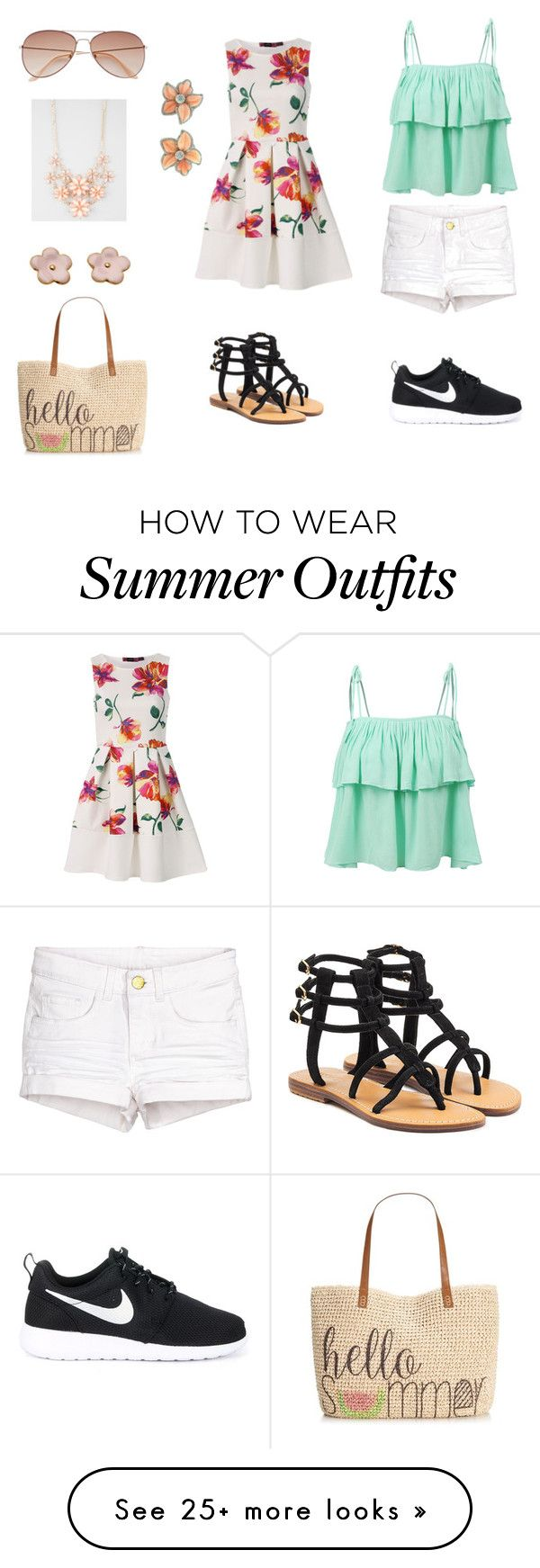 """""""Summer Outfit"""" by ashling22 on Polyvore featuring LE3NO, NIKE, Style & Co., Mystique, H&M and Full Tilt"""