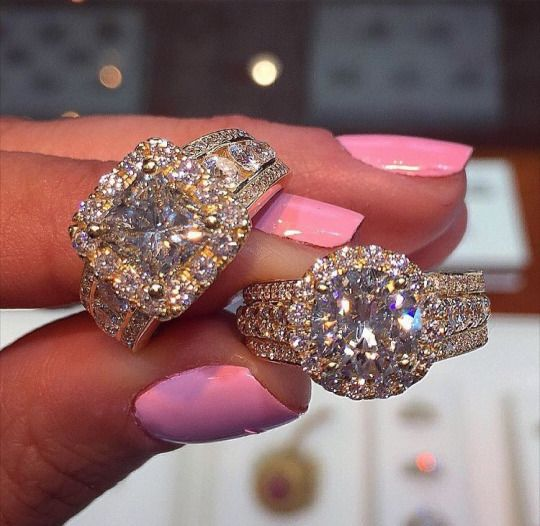 Glamour Queen, diamonds, rings, pink, nail, cute, expensive, rosy