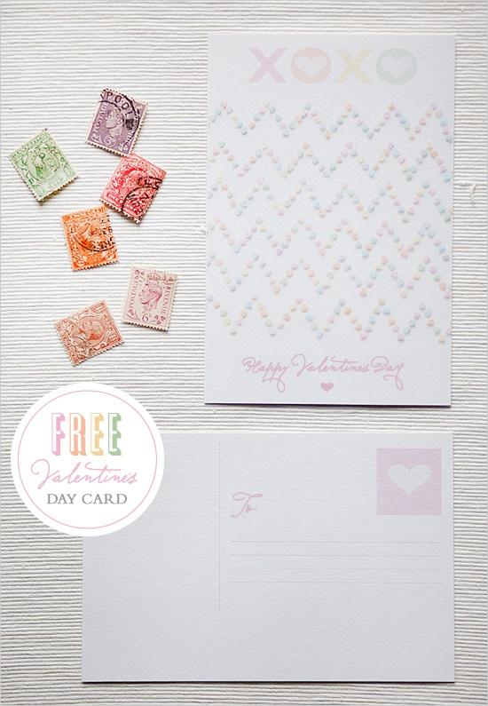 #Free printable Valentine's postcards