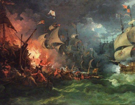 Derrota de la Armada Invencible. Uno de los episodios mas tristes y amargos de la historia española.