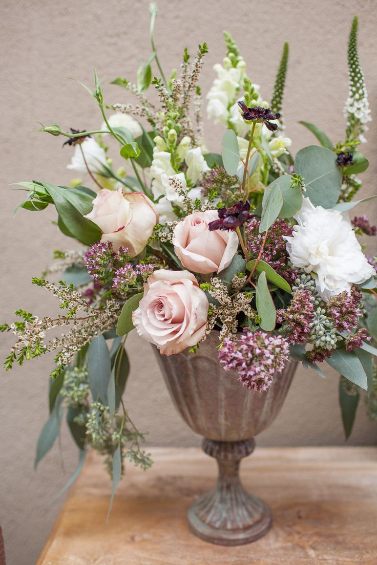 #Centerpiece #FrenchCountry Inpired | See the Inspiration on #SMP Weddings: http://www.stylemepretty.com/little-black-book-blog/2013/12/11/french-farmhouse-inspired-wedding-inspiration-in-spokane-washington/  Urban Rose Photo