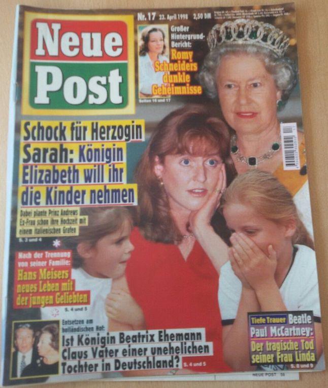Neue Post Nr. 17 1998  Königin Elisabeth, Herzogin Sarah