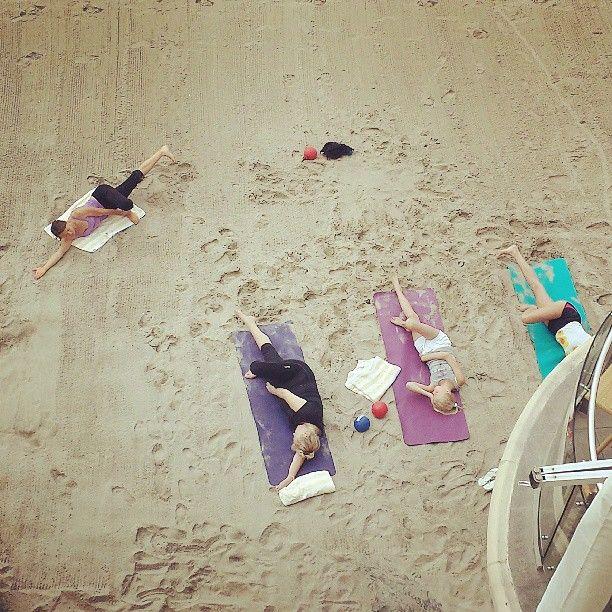 "Beach Yoga at Malibu Beach Inn. ""#sunday #morning #beach #yoga at #malibubeachinn #malibu"""