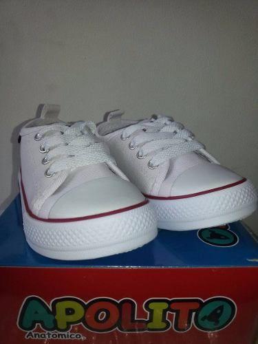 zapatos apolito converse blancos talla 22