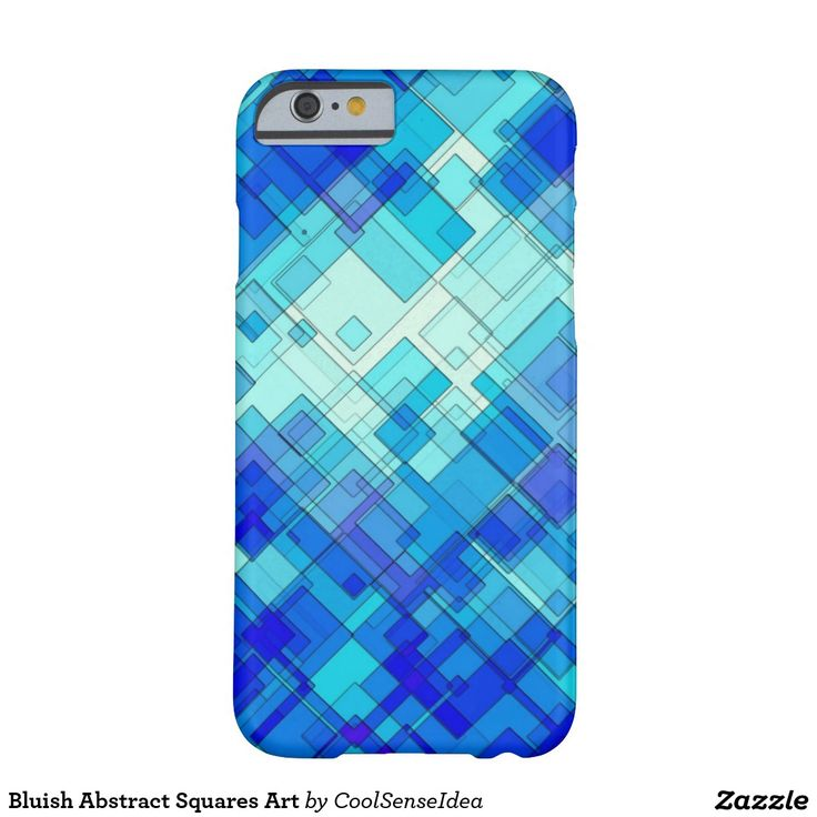 Bluish Abstract Squares Art Barely There iPhone 6 Case