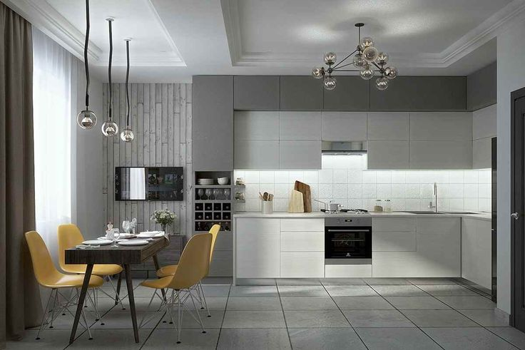 Великолепные серые кухни