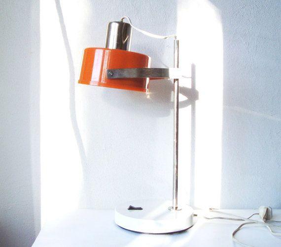 Desk Lamp Working Vintage Table Light Mid Century by MerilinsRetro, $69.00