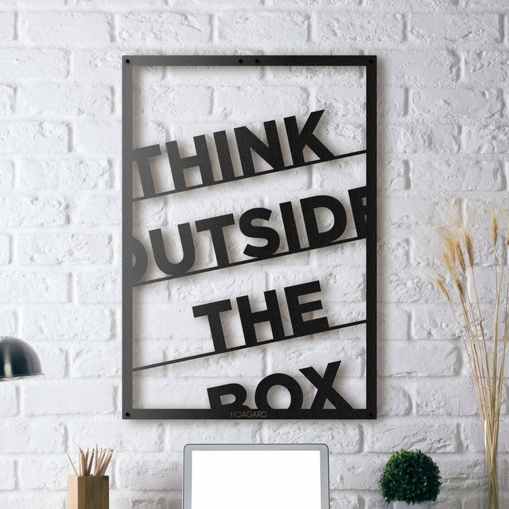Metal poster think outside the box