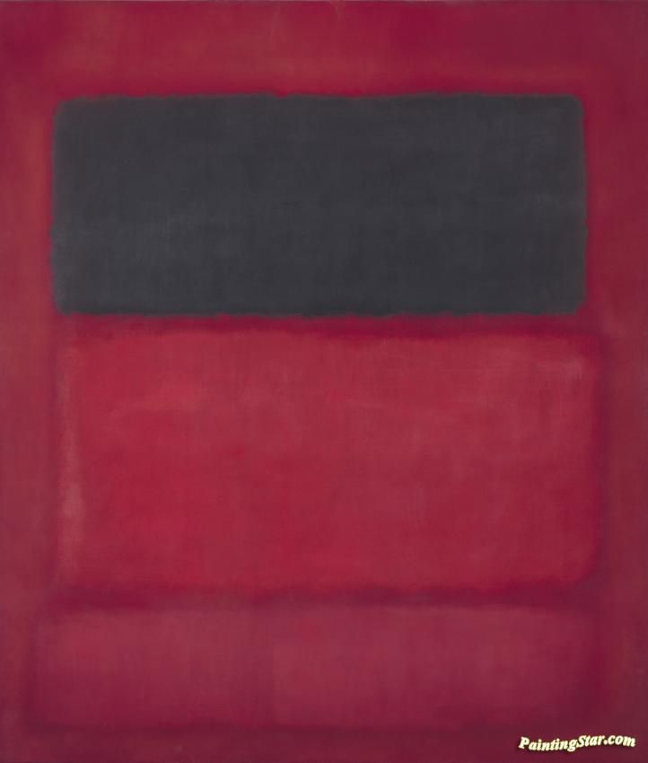 Black Over Reds (black On Red), 1957 Artwork by Mark Rothko Hand-painted and Art Prints on canvas for sale,you can custom the size and frame