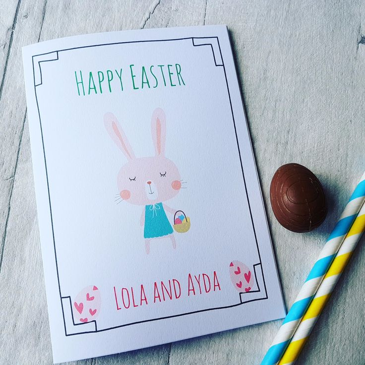 14 best easter gifts images on pinterest easter gift easter bunny personalised easter bunny card negle Images