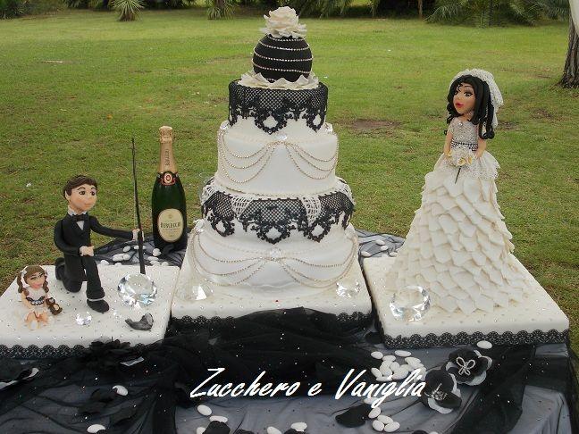 torta bianco e nero