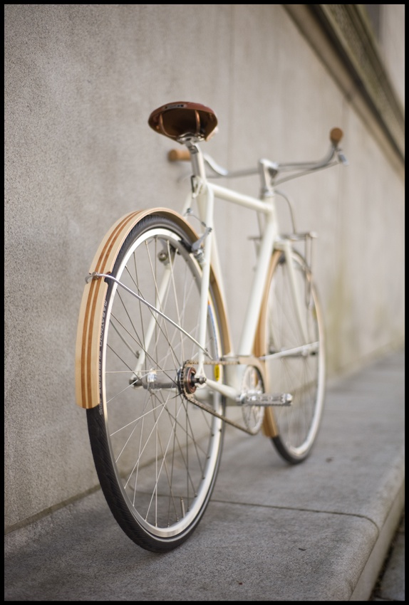 maybe the wooden fenders? (from Fast Boy Cycles)