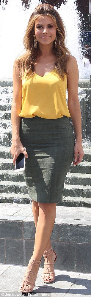 She's got style: Maria was spotted duirng a break wearing a top and skirt by Blaque Label ...