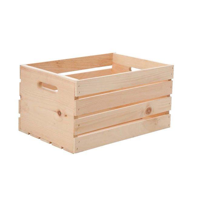 Cette caisse en bois naturel peut être utilisée pour le rangement et apportera une touche rustique à votre décor. Elle peut être teinte ou peinte à v...