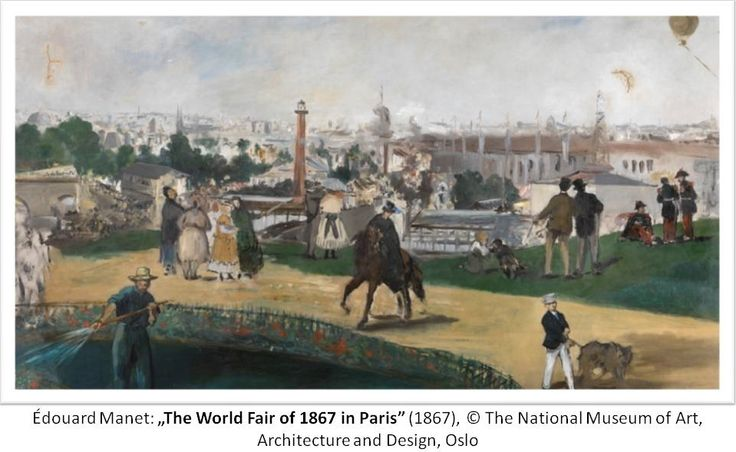 """Édouard Manet: """"The World Fair of 1867 in Paris"""", 1867; The National Museum of Art, Architecture and Design, Oslo"""