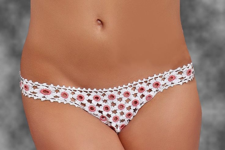 Hand crochet sexy panties LITTLE FLOWERS by Czechhandmade on Etsy