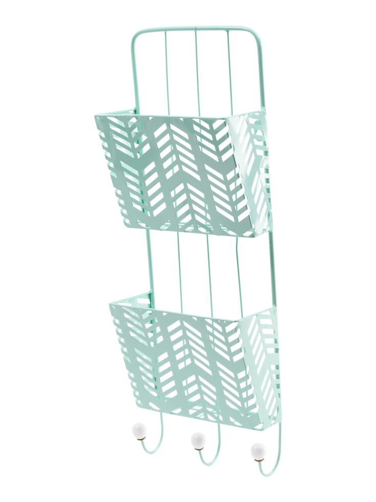 Enchante 9x24 Iron and Ceramic Magazine Rack in Mint $17 | TJ Maxx