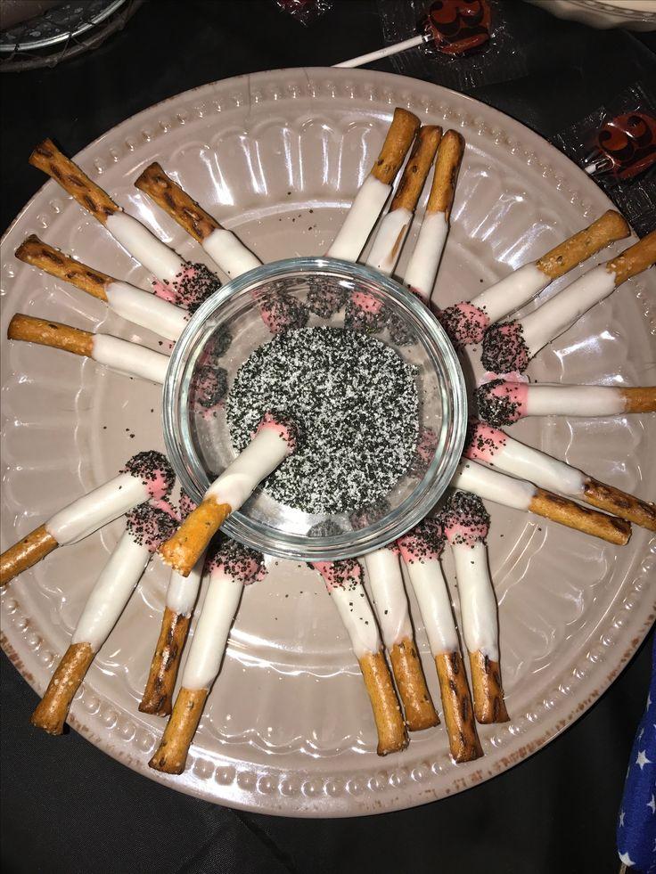White trash bash food. Red neck party food #candycigerettes #fakecigerettes
