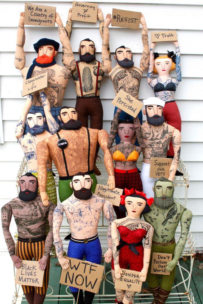 Protest Dolls by Mimi Kirchner / Craftivism / Activism