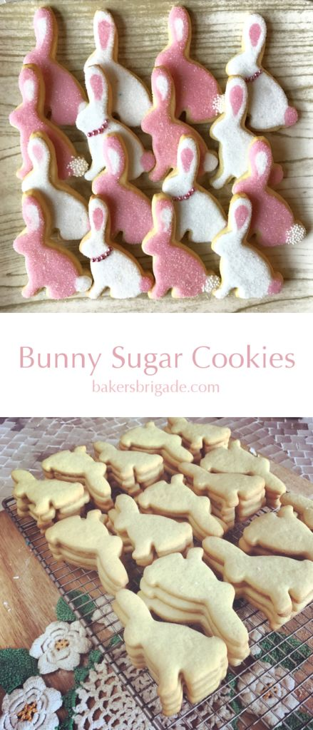 Bunny Cookies-Simple Iced Sugar Cookies for Easter <3