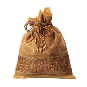 Indian queen potli bag Brown