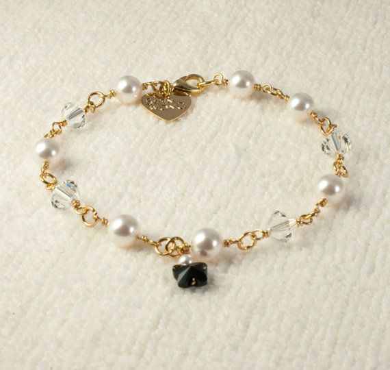 Swarovski Butterfly Crystal and Pearl  Gold by Shen Wong Jewellery
