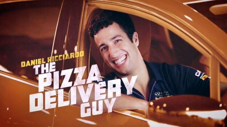 Daniel ricciardo tests his pizza delivery driver skills