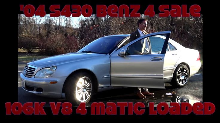 '04 S 430 Benz For Sale $8900 Richmond Virginia Best Used 2004 S430 Merc...