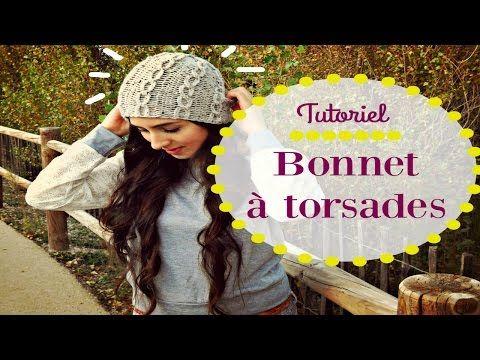 Bonnet à torsades en tricotin circulaire - YouTube                                                                                                                                                                                 Plus