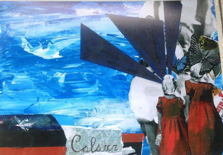Collaged mixed media copied onto photograph paper