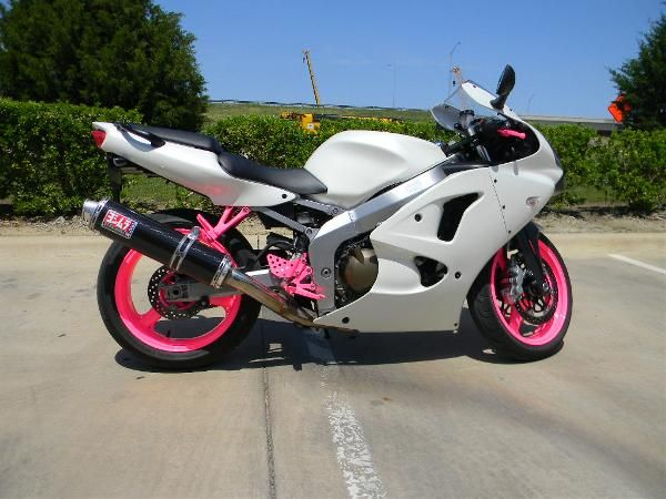 Black and Pink Ninja 250 | ... model zzr600 condition used year 2008 color white and pink super