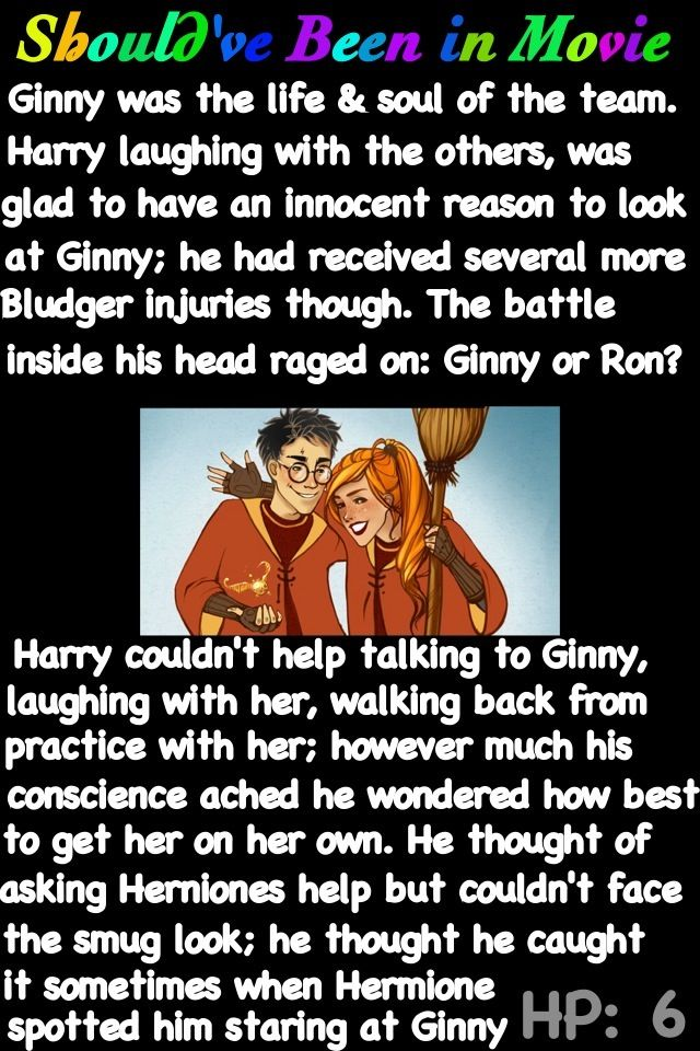 Harry Potter and the Half-Blood Prince Should've Been in Movie Harry and Ginny moment awe