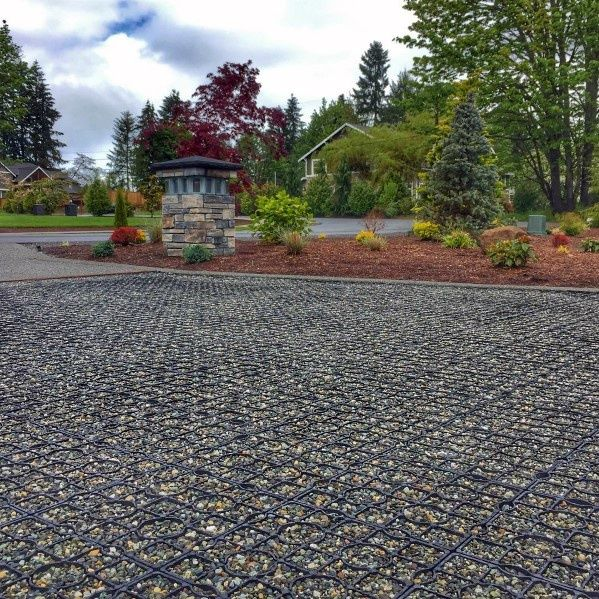 Top 60 Best Gravel Driveway Ideas Curb Appeal Designs Driveway Design Gravel Driveway Landscape Pavers