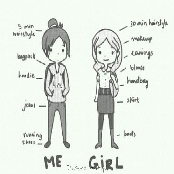 Me Compared To Other Girls Relatable Funny Lol Tomboy Quotes