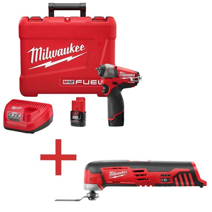Milwaukee M12 Fuel 12-Volt Lithium-Ion Brushless 1/4 in. Cordless Impact Wrench Kit W/ Free M12 Cordless Multi-Tool (Tool-Only)