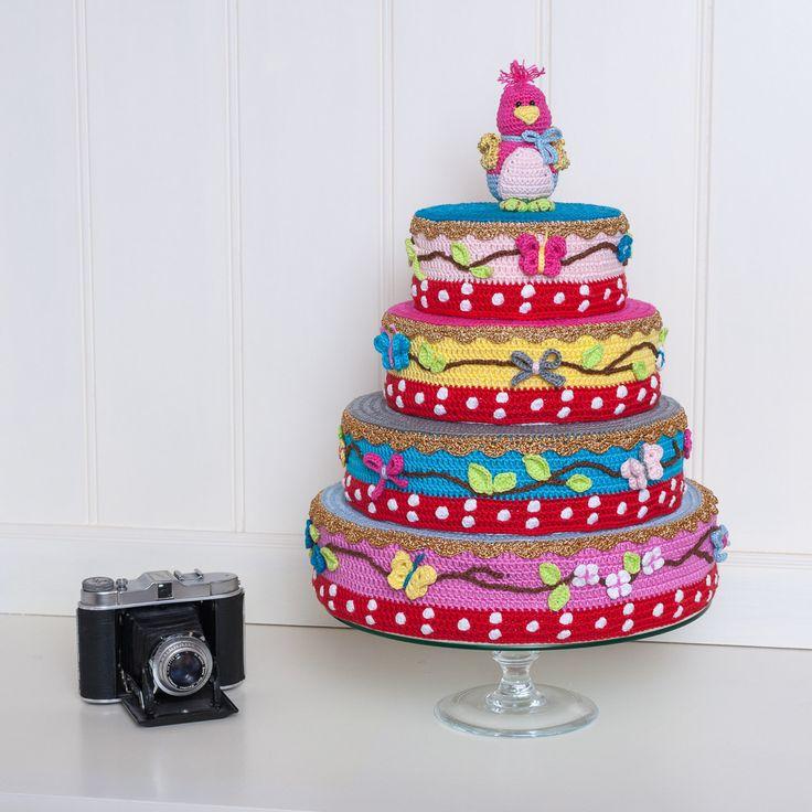 Zelf gehaakte pip studio taart.  Crochet pip studio cake  Haken