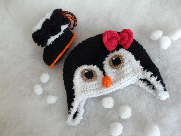 Häkeln Set Babymütze + Stiefel Pinguin Mädchen                                                                                                                                                     Mehr