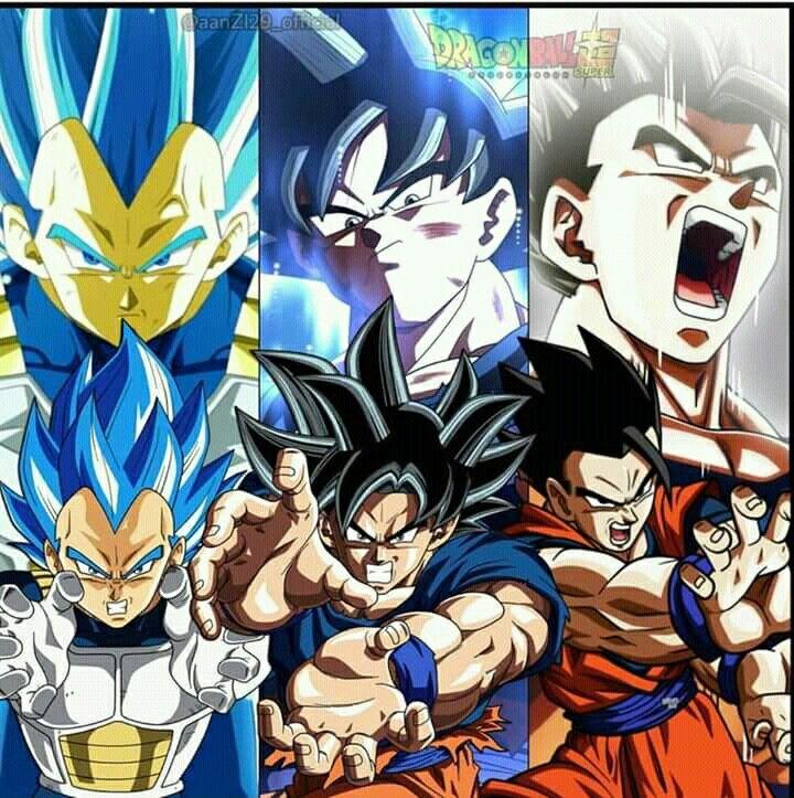 Goku Vegeta And Gohan Dragon Ball Z Dragon Ball Anime Toon
