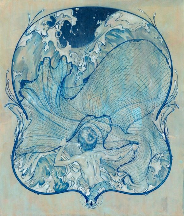James Jean ~ Wave Catcher