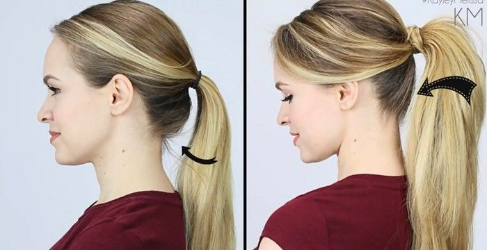 This is the right way to tie your hair. @1:20 the secret to a fluffy pony tail is finally out!