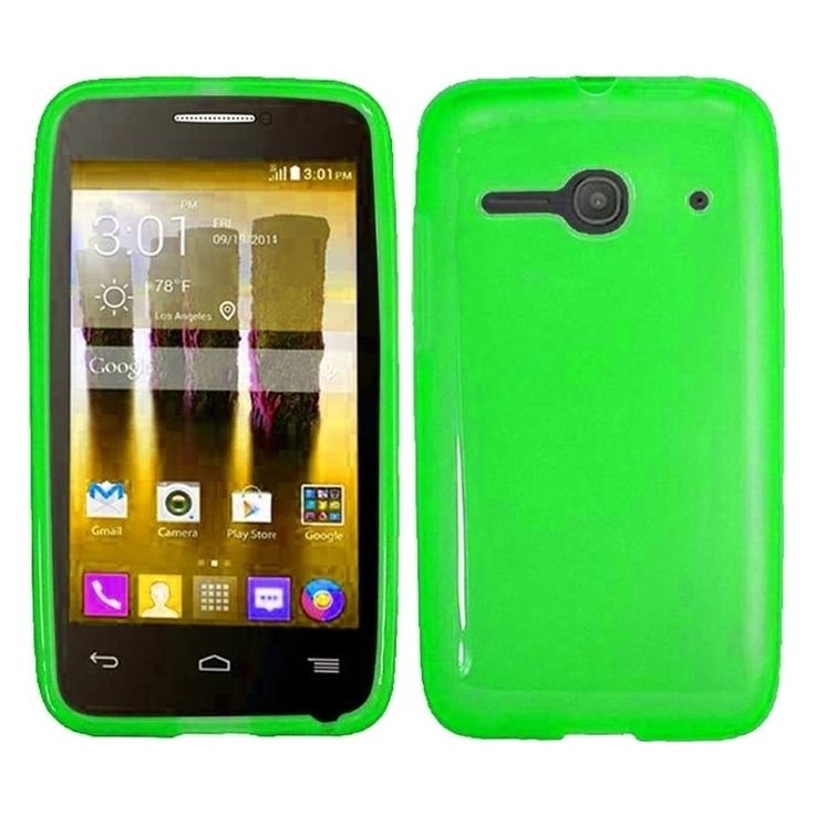 Insten Solid TPU Rubber Candy Skin Snap-On Slim Phone Case Cover For Alcatel One Touch Evolve 2 #2008560
