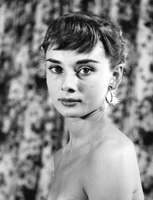 Audrey Hepburn photographed before attending a benefit premiere of Roman Holiday, Sept. 14, 1953